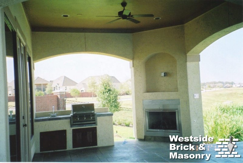 Outdoor Kitchens And Fireplaces Westside Brick Masonry General