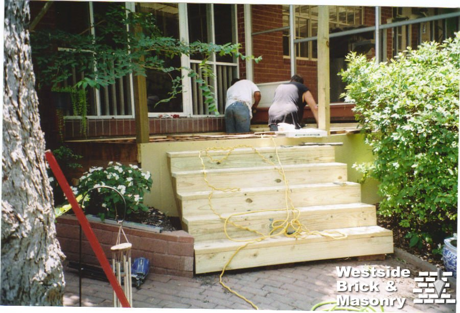 wood patio steps images